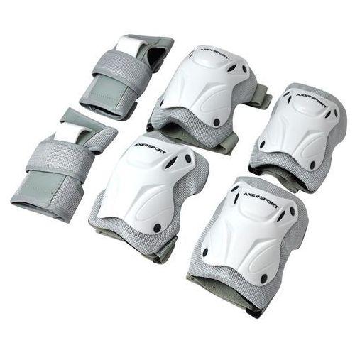 Axer sport Zestaw ochraniaczy a20784-l biało-szary (rozmiar l)
