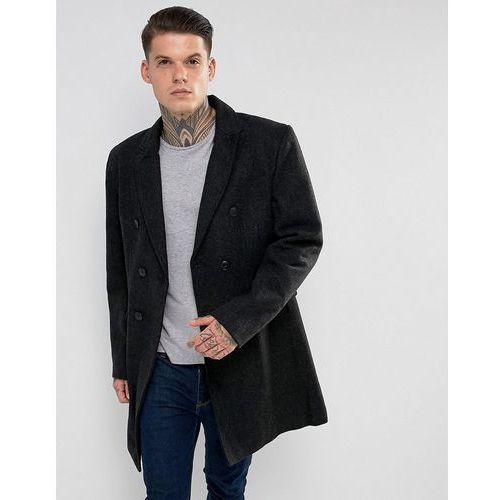 Bellfield double breasted wool mix jacket - black