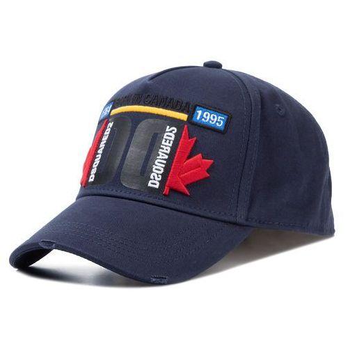 Czapka z daszkiem - embroidered cargo baseball caps bcm0243 05c00001 3073 navy marki Dsquared2