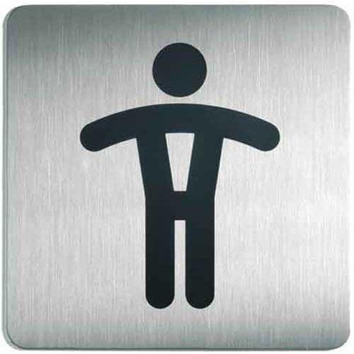 Oznaczenie toalet metalowe kwadratowe - WC MĘSKI, G4954