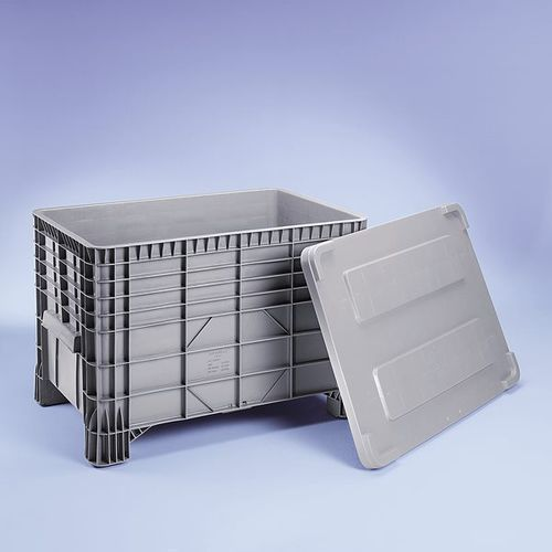 Pokrywa z polietylenu, do dł. x szer. 1030x600 mm, szary, od 5 szt.
