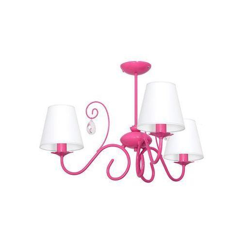 Dziecięca lampa wisząca LAURA 3xE14/60W/230V różowa