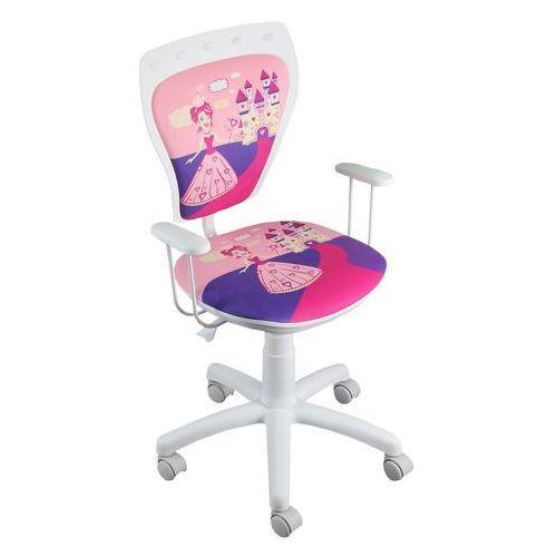 Obrotowe krzesło dziecięce MINISTYLE WHITE - Princess Daisy - Szkolna Promocja!, Nowy Styl