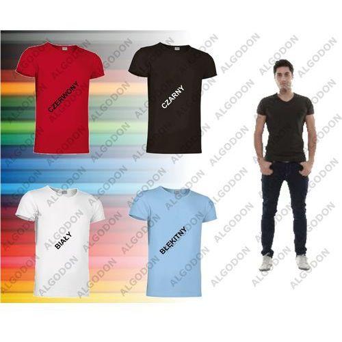 T-shirt krótki rękaw koszulka męska z elastanem v-neck S-2XL COBRA VALENTO M czerwony