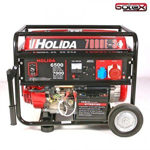 Holida Agregat prądotwórczy, generator wm 7000-3 trójfazowy 7 kw - rozrusznik elektryczny