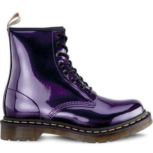 Dr martens vegan 1460 chrome dark purple chrome paint metallic - buty glany - fioletowy/różowy marki Dr. martens