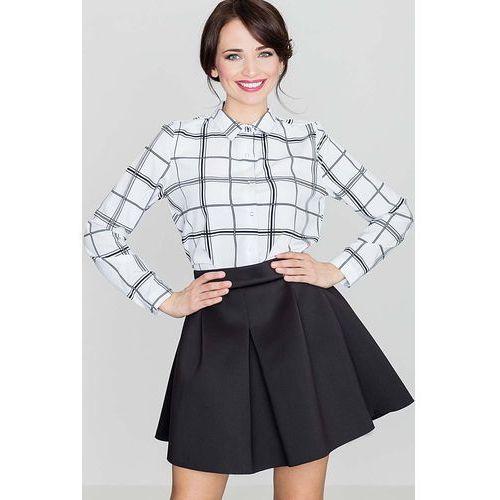 Czarna Rozkloszowana Mini Spódnica z Szeroką Plisą, w 4 rozmiarach