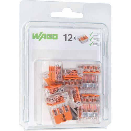 Szybkozłączka Wago 3x0,2-4mm2 transparentna / pomarańczowa 221-413 blister 12szt 0221-0413/0996-0012