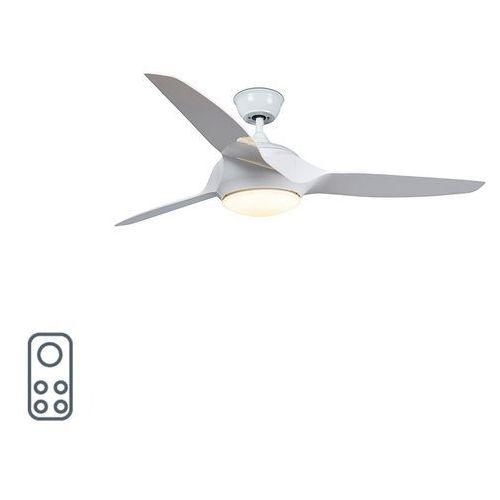 Wentylator sufitowy biały w tym LED z pilotem - Marin 56