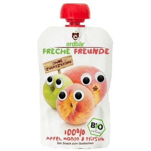Mus do wyciskania jabłko-mango-brzoskwinia 100g eko erdbar dla dzieci marki 208erdbar
