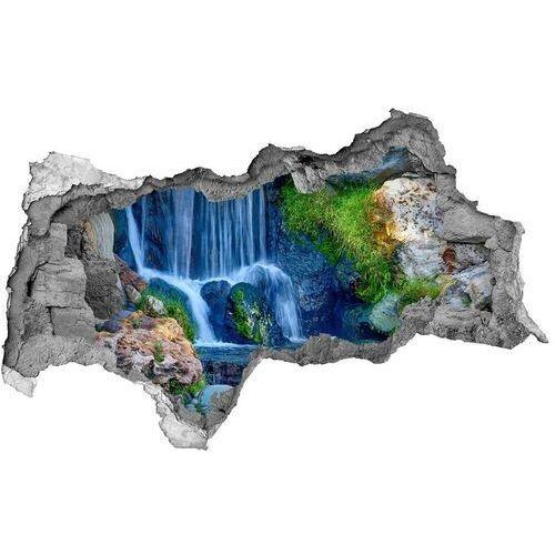 Dziura 3d w ścianie naklejka cegła Wodospad