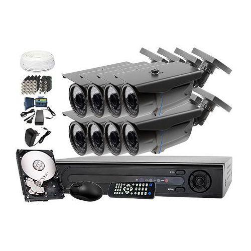 Zestaw do monitoringu: Rejestrator LV-XVR84, 8 x Kamera LV-AL30HT+ dysk 1TB + akcesoria, ZM6495