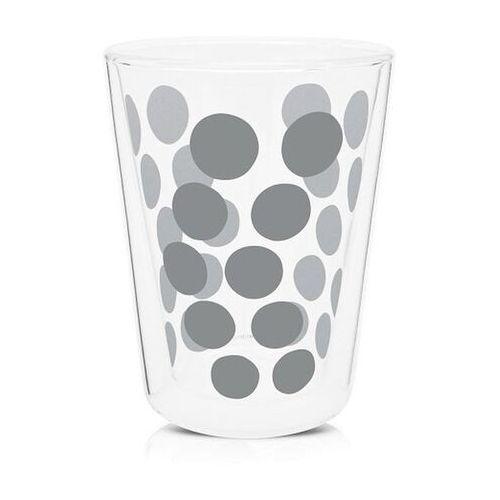 Zak! Designs - Zestaw 2 szklanek 350 ml z łyżeczkami - srebrny