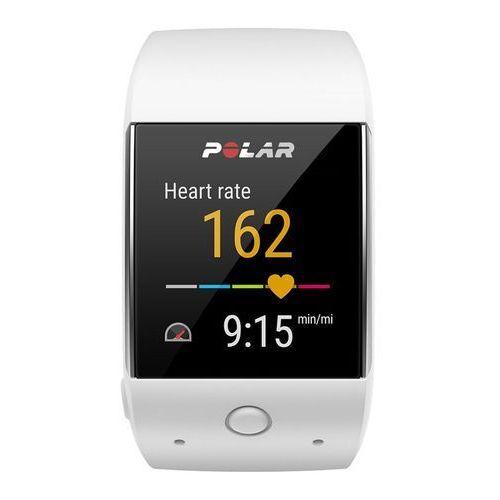 m600 - zegarek sportowy z gps (biały) marki Polar