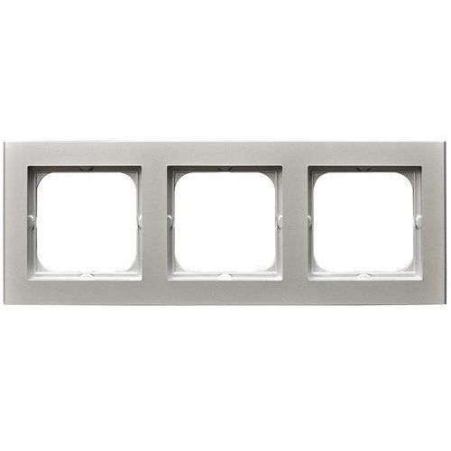 Ospel Sonata ramka potrójna srebro mat pozioma i pionowa r-3r/38 (5907577447656)