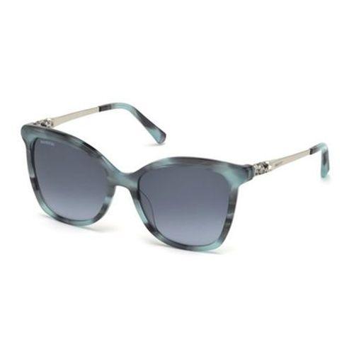 Okulary Słoneczne Swarovski SK0154-H 87T, kolor żółty