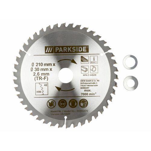tarcza do cięcia Ø 210 mm pksb 210 b1, 1 sztuka (tarcza do cięcia trf, 42 zęby) marki Parkside®