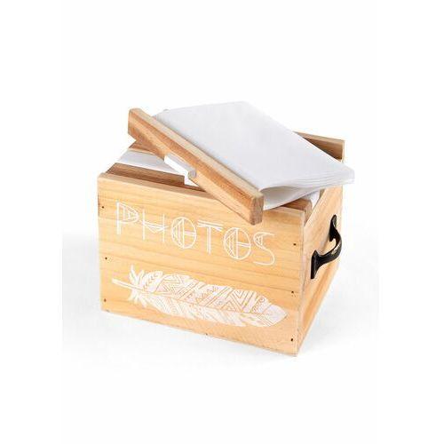 Bonprix Pudełko drewniane na zdjęcia biało-naturalny