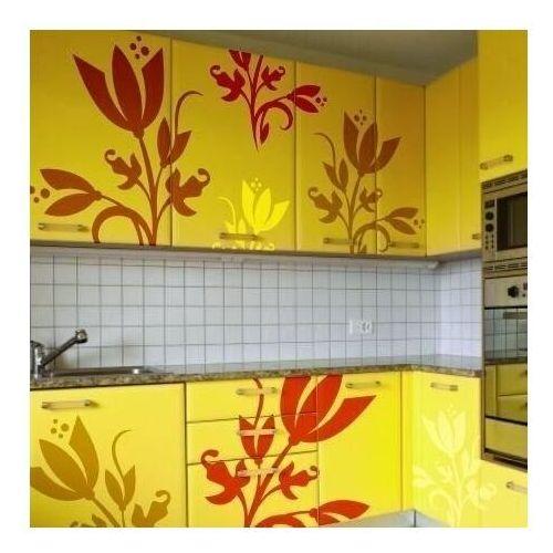 Wally - piękno dekoracji Naklejka motyw kwiatowy 1244