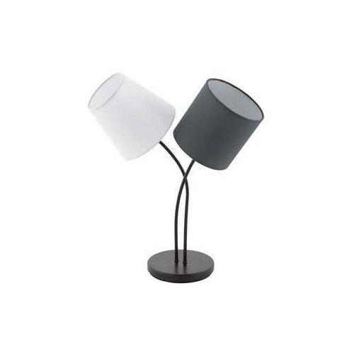 Lampa stołowa Eglo Almeida 95194 lampka oprawa 2x40W E14 biała/ czarna, 95194