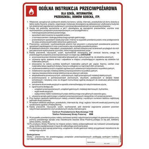 Ogólna instrukcja przeciwpożarowa dla szkół marki Top design