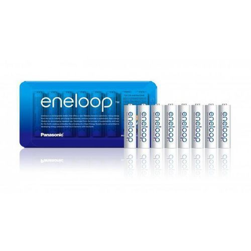8 x akumulatorki eneloop r6 aa 2000mah bk-3mcce/8le (sliding pack) marki Panasonic
