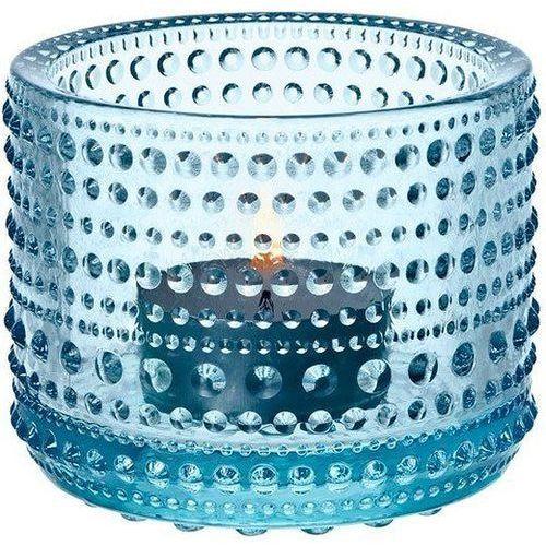 Kastehelmi świecznik na tealight, błękitny - Iittala (6411920059803)