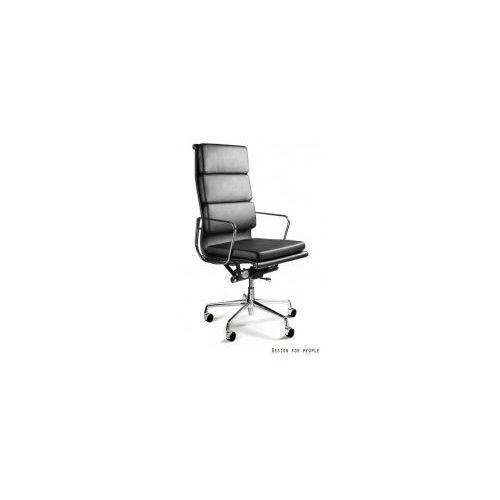 Krzesło biurowe Wye HL czarne skóra naturalna, kolor czarny