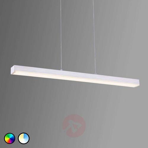 Lampa wisząca leuchten wiz livaro led nikiel matowy, 1-punktowy, zdalne sterowanie, zmieniacz kolorów - nowoczesny - obszar wewnętrzny - livaro - czas dostawy: od 3-6 dni roboczych marki Trio