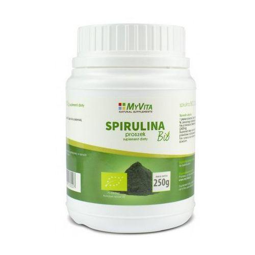 Spirulina platensis (MyVita) BIO 250g. Najniższe ceny, najlepsze promocje w sklepach, opinie.