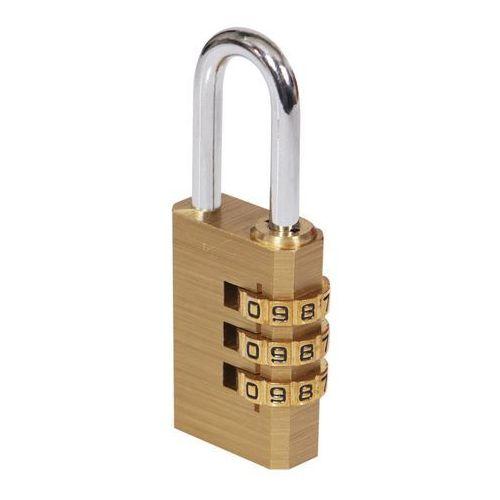 Kłódka szyfrowa mosiądz 28,5 mm marki Smith and locke