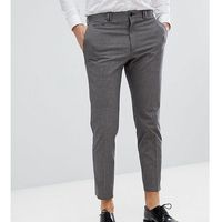 Noak skinny wedding cropped trousers in mini check - brown