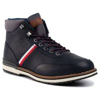 Trzewiki - outdoor corporate leather boot fm0fm02534 midnight cki marki Tommy hilfiger