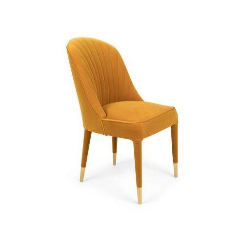Bold monkey krzesło give me more velvet chair musztardowe bm11003
