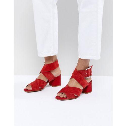 ASOS DESIGN Tosh Suede Crossover Sandals - Red, kolor czerwony