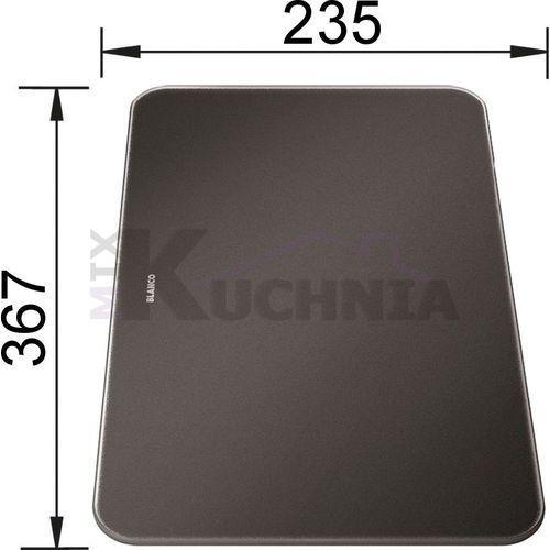 Deska szklana czarna do zenar xl 6s compact 367 x 235 mm marki Blanco