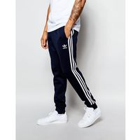 adidas Originals Superstar Cuffed Track Pants AJ6961 - Blue, kolor niebieski