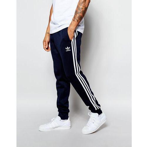 adidas Originals Superstar Cuffed Track Pants AJ6961 - Blue, kolor niebieski