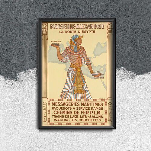 Plakat w stylu vintage plakat w stylu vintage egipt marsylia alexandrie marki Vintageposteria.pl