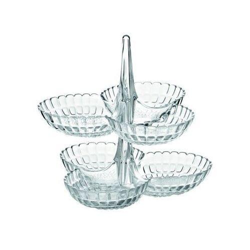 - tiffany - kpl 2 potrójnych miseczek na przystawki, biały marki Guzzini
