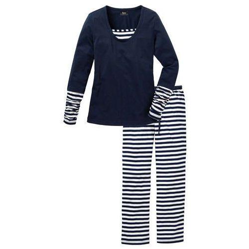 4a306af1b91a2c Piżamy damskie · Piżama bonprix ciemnoniebiesko-biały w paski