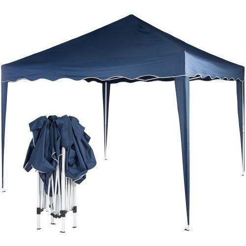 Ekspresowy niebieski pawilon namiot ogrodowy 3x3m - niebieski (odcień granatowy) marki Makstor.pl. Najniższe ceny, najlepsze promocje w sklepach, opinie.