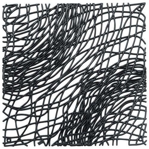 Panel dekoracyjny silk - czarny - czarny