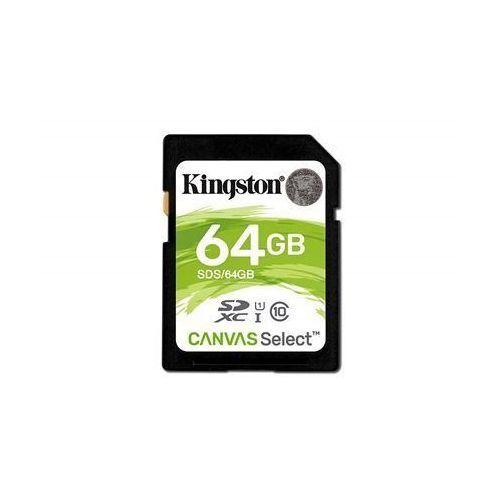canvas select uhs-i 64 gb, sdxc, flash memory class 10 marki Kingston
