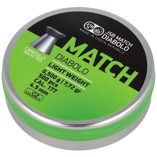 Śrut JSB Match Diabolo Light Weight 4.5mm 500szt (000005-500 (0,500g)) (2010000146132)