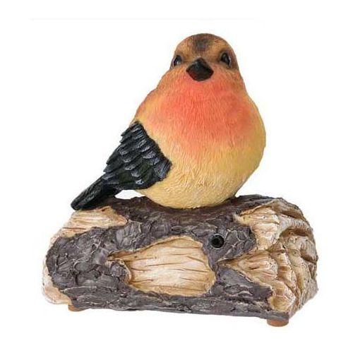 Ozdobny ptaszek odgrywający melodyjki, zasilana bateriami figurka dekoracyjna do domu lub ogrodu