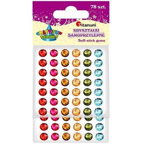 Kryształki samoprzylepne, 7mm,78szt,mix, craft-fun - błękitny/zielony/żółty/czerwony marki Titanum