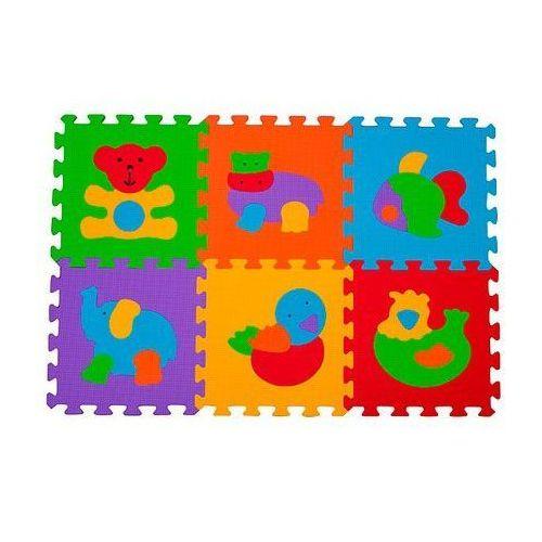 Puzzle piankowe zwierzęta 6 szt marki Babyono