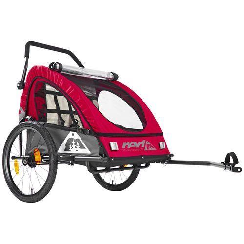 Red Cycling Products PRO Kids BikeTrailer Przyczepka rowerowa szary/czerwony 2018 Przyczepki dla dzieci