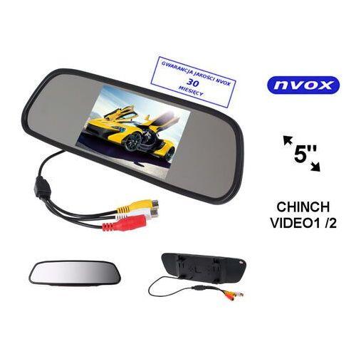 """nw5005m monitor samochodowy cofania lcd 5"""" cali led w lusterku wstecznym av 12v marki Nvox"""